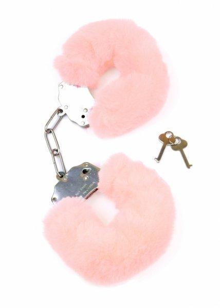 Kajdanki Fetish Boss Series- Furry Cuffs Light Pink