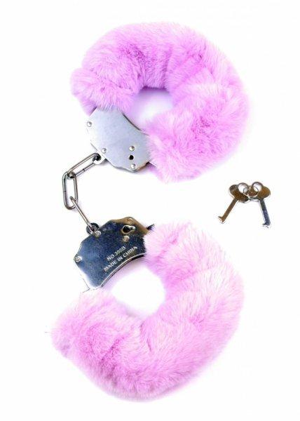 Kajdanki Fetish Boss Series- Furry Cuffs Purple