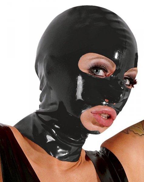 Lateksowa maska czarna