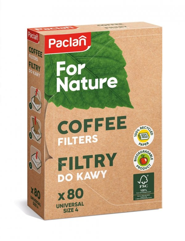 FILTRY DO KAWY 80 SZT. PACLAN For Nature