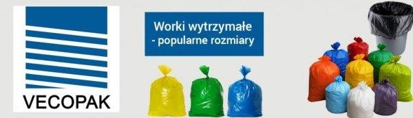 Worki na śmieci HDPE 35L 50szt. niebieskie