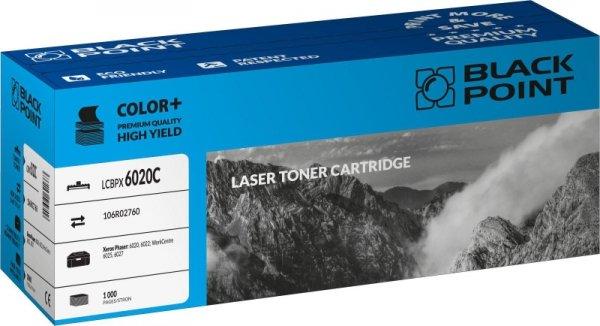 Black Point toner LCBPX6020C zastępuje Xerox 106R02760, niebieski