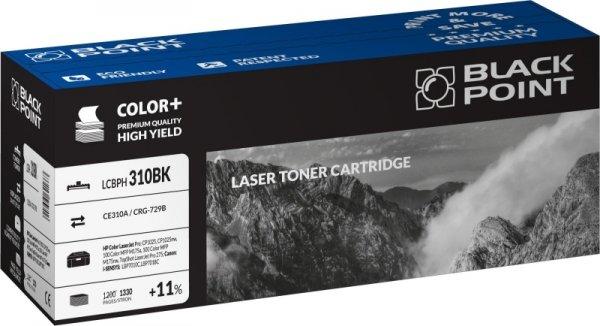 Black Point toner LCBPH310BK zastępuje HP CE310A / CRG-729B, czarny