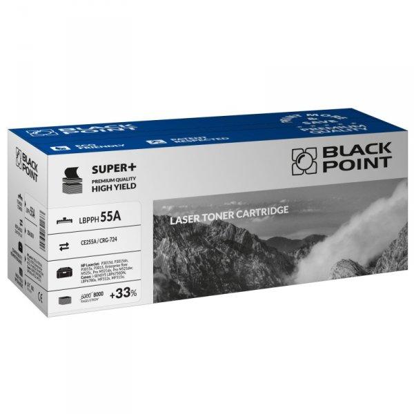 Black Point toner LBPPH55A zastępuje HP CE255A / CRG-724, 8000 stron