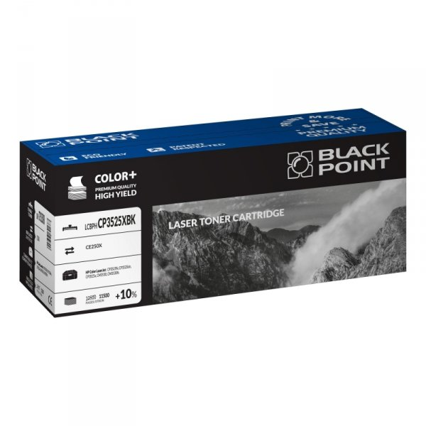 Black Point toner LCBPHCP3525XBK zastępuje HP CE250X, czarny