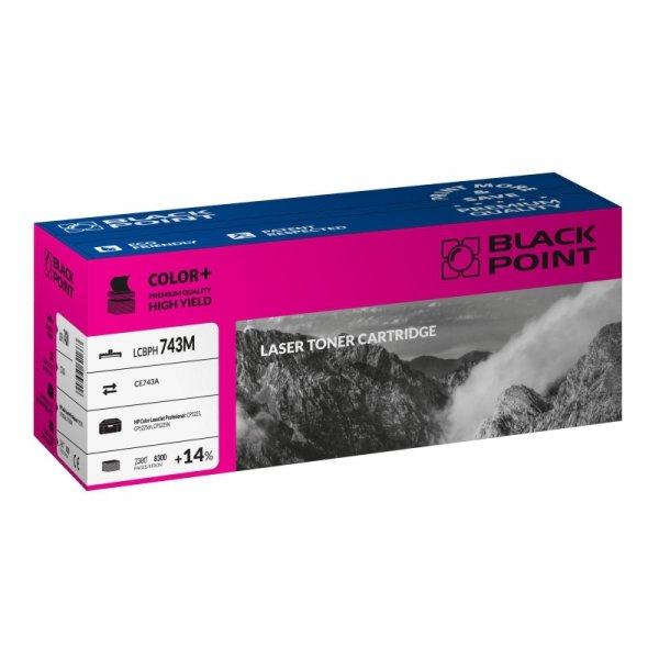 Black Point toner LCBPH743M zastępuje HP CE743A magenta