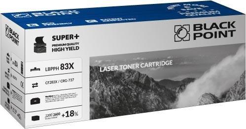 Black Point toner LBPPH83X zastępuje HP CF283X / CRG-737, 2600 stron
