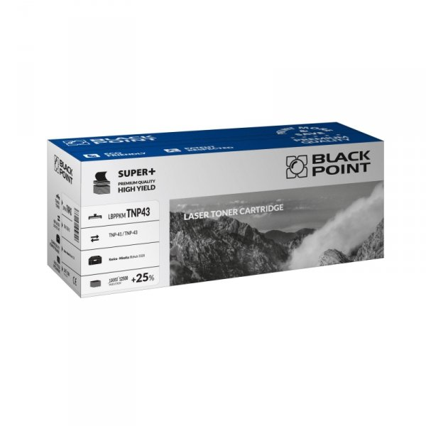 Black Point toner LBPPKMTNP43 zastępuje Minolta TNP-41 / TNP-43, 12500 stron