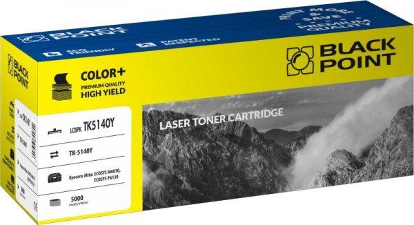 Black Point toner LCBPKTK5140Y zastępuje Kyocera TK-5140Y, żółty
