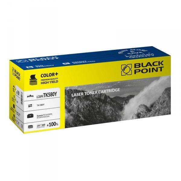 Black Point toner LCBPKTK580Y zastępuje Kyocera TK-580Y, żółty