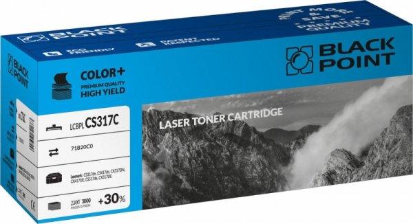 Black Point toner LCBPLCS317C zastępuje Lexmark 71B20C0 , niebieski