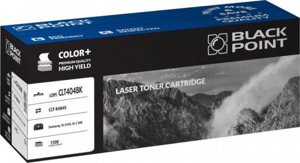 Black Point toner LCBPSCLT404BK zastępuje Samsung CLT-K404S, czarny