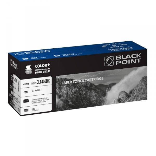 Black Point toner LCBPSCLT406BK zastępuje Samsung CLT-K406S, czarny