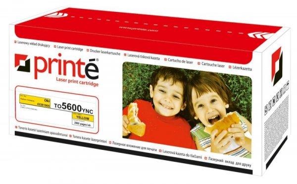 Printé toner TO5600YNC zastępuje OKI 43381905, żółty