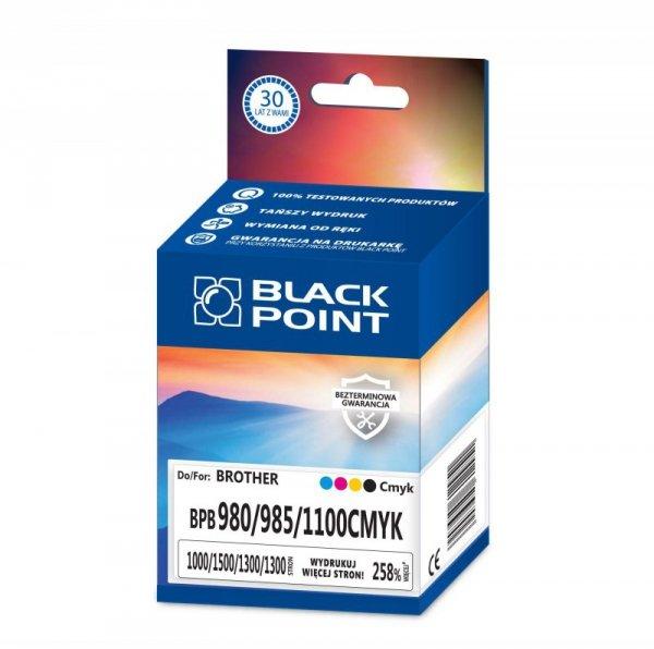 Black Point tusz BPB980/985/1100CMYK zastępuje Brother LC-980/985/1100, MULTIPACK (CMYK)