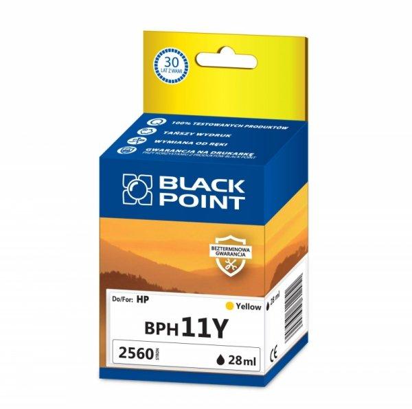Black Point tusz BPH11Y zastępuje HP C4838AE, żółty