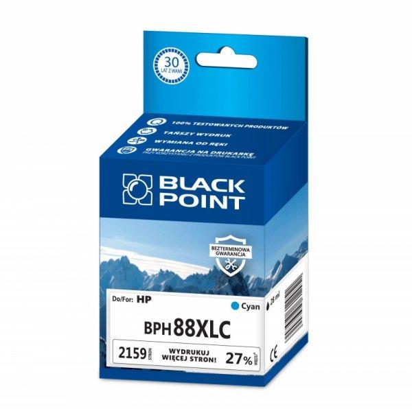 Black Point tusz BPH88XLC zastępuje HP C9391AE,  niebieski