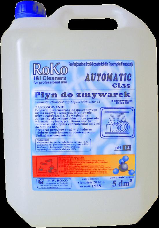 Automatic CL35 płyn do mycia w zmywarkach 5L