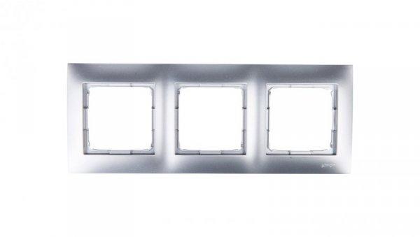Simon 54 Premium Ramka potrójna srebrny mat /do karton-gips/ DRK3/43