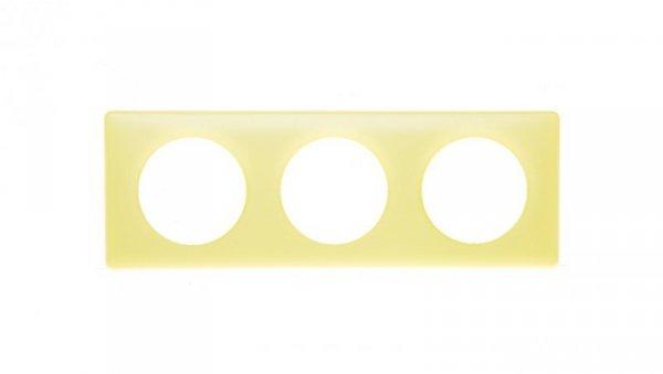 Ramka 3x żółty tworzywo Poziomy i pionowy 068873