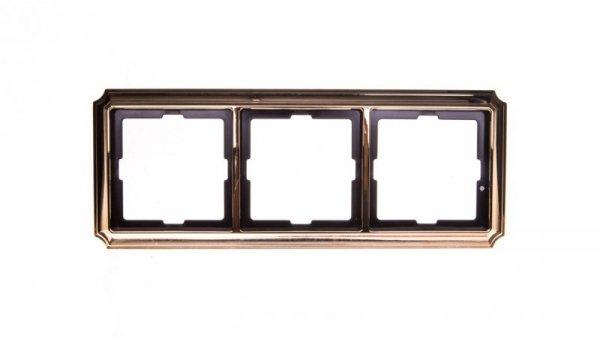 Merten Antique Ramka potrójna mosiądz polerowany MTN483321