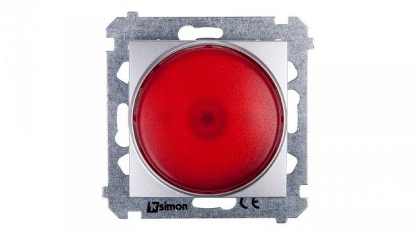 Simon 54 Sygnalizator świetlny LED czerwone światło srebrny mat DSS2.01/43