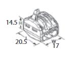 ZŁĄCZKA DO PRZEWODÓW ZATRZASKOWA 0,2-4,0mm2 PC233 3GNIAZDA 1szt