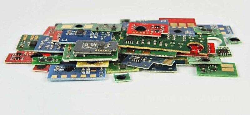 Chip Cyan NON-HP CE311A/CRG729