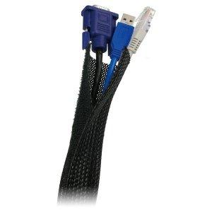 LogiLink Elastyczny organizator kabli, czarny