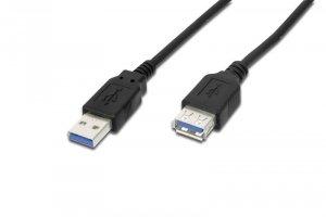 Digitus Kabel przedłużający USB 3.1 Gen.1 SuperSpeed 5Gbps Typ USB A/USB A M/Ż czarny 1,8m