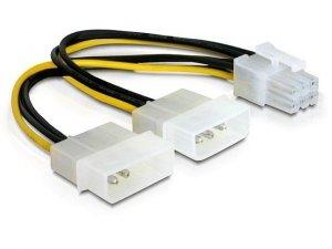 Delock Kabel rozdzielacz zasilania 2xHDD/1xPCI Express 6Pin