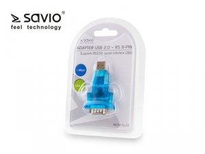 Elmak Adapter USB 2.0 do RS 9-pin + kabel USB SAVIO CL-22
