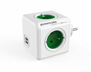 Allocacoc Rozgałęziacz PowerCube Original USB 2202GN/FROUPC Zielony