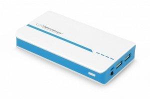 Esperanza PowerBank POWER ATOM 11000mAh biało-niebieski