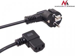 Maclean Kabel zasilający kątowy 3 pin 5M wtyk EU MCTV-804