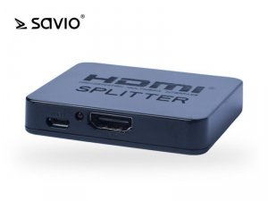Elmak SAVIO CL-93 Splitter HDMI na 2 odbiorniki, 4K, funkcja wzmacniacza, blister