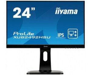 IIYAMA Monitor 24 XUB2492HSU- SPEAKERS,ULTRASLIM,USB