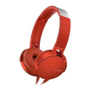 Sony MDR-XB550APR czerwone, mikrofon