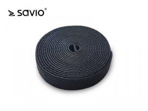 Elmak SAVORG-OC-02/B Organizer na kable, Taśma, Rzep, 3m x 20mm - czarny