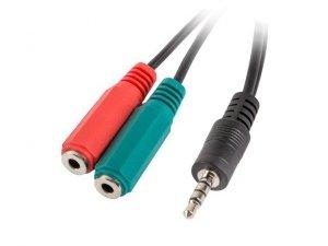 LANBERG Adapter Jack Mini(M) -> Jack Mini(F)x2 20cm czarny