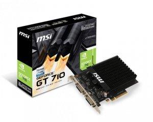 MSI Karta graficzna GeForce GT710 2GB H2D DDR3 64BIT DVI-I/DVI-D/miniHDMI