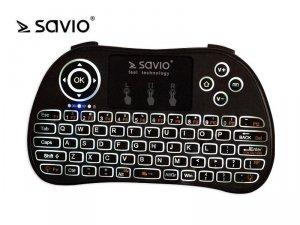 Elmak Klawiatura bezprzewodowa podświetlana SAVIO KW-02 Android TV Box, Smart TV, PS3, XBOX360, PC