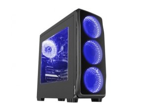 NATEC Obudowa Genesis Titan 750 USB 3.0 z oknem niebieskie  podświetlenie