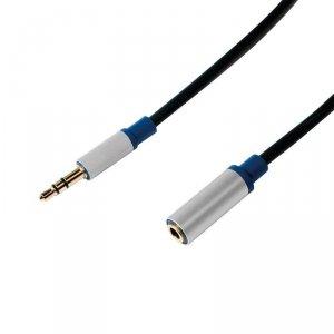 LogiLink Przedłużacz audio jack 3.5mm, premium 1,5m