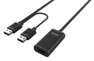 Unitek Przedłużacz aktywny USB 2.0, 20m, Y-279 czarny