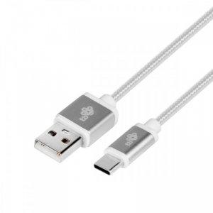 TB Kabel USB-USB C 1.5m srebrny sznurek