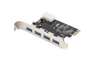 Digitus Karta rozszerzeń/Kontroler USB 3.0 PCI Express, 4xUSB 3.0, Chipset: VL805