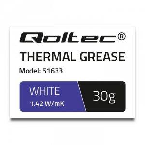 Qoltec Pasta termoprzewodząca | 1.42W/m-K | 30g | biała