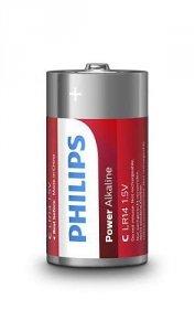 Philips Baterie Power Alkaline C 2szt. blister