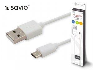 Elmak Kabel USB - micro USB 2.1A, 1m SAVIO CL-123